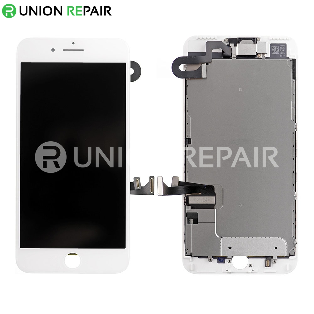 Replacement for iPhone 7 Plus LCD Screen Full Assembly without Home Button - White