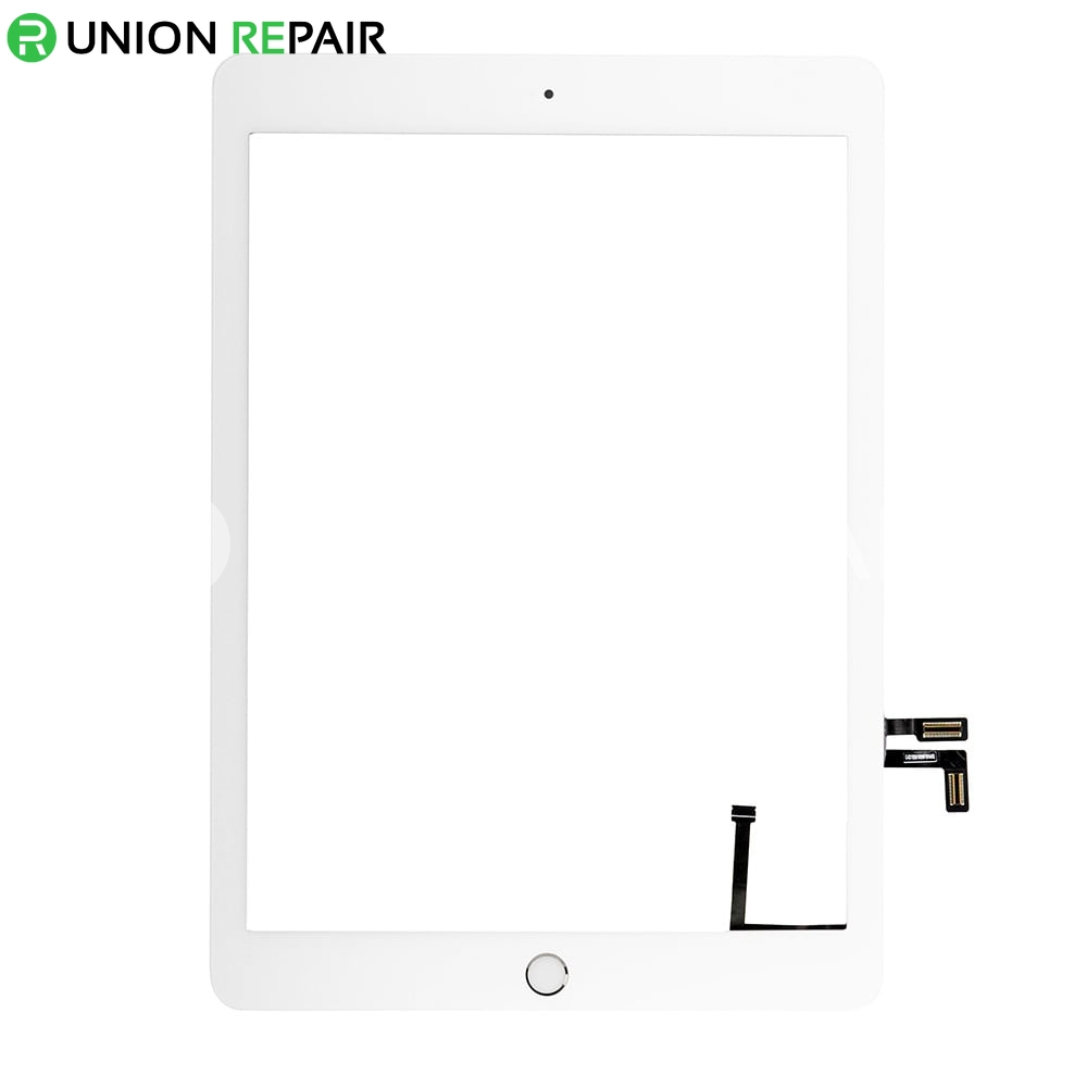 Replacement for 2017 New iPad 5 Touch Screen Assembly With Silver Home Button Assembly - White