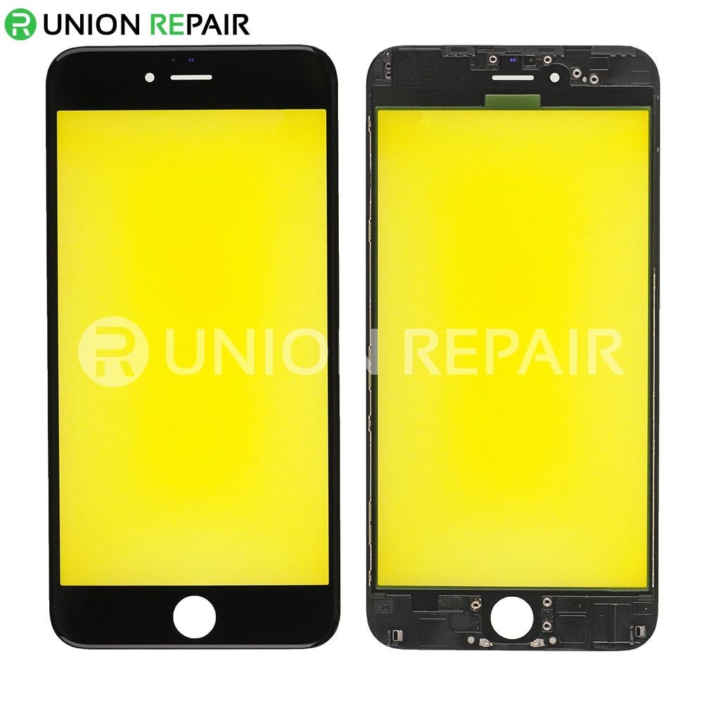 promo code e141b f3d70 Replacement for iPhone 6 Plus Front Glass with Cold Pressed Frame - Black