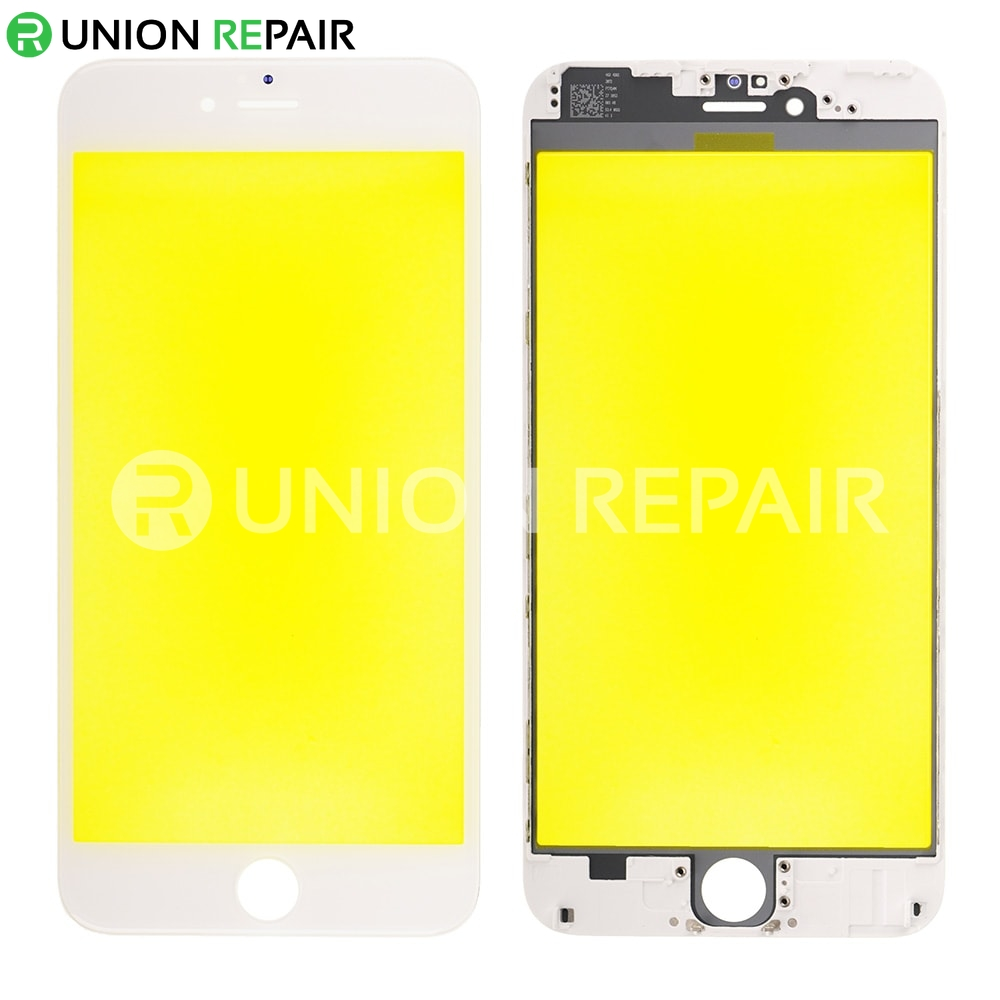 brand new 09ad4 27b8c Replacement for iPhone 6 Plus Front Glass with Cold Pressed Frame - White