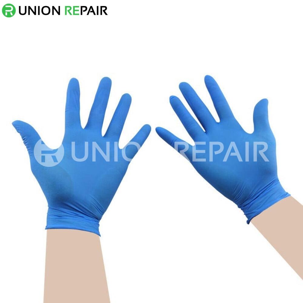 Ammex Blue Disposable Nitrile Gloves 100pcs/box