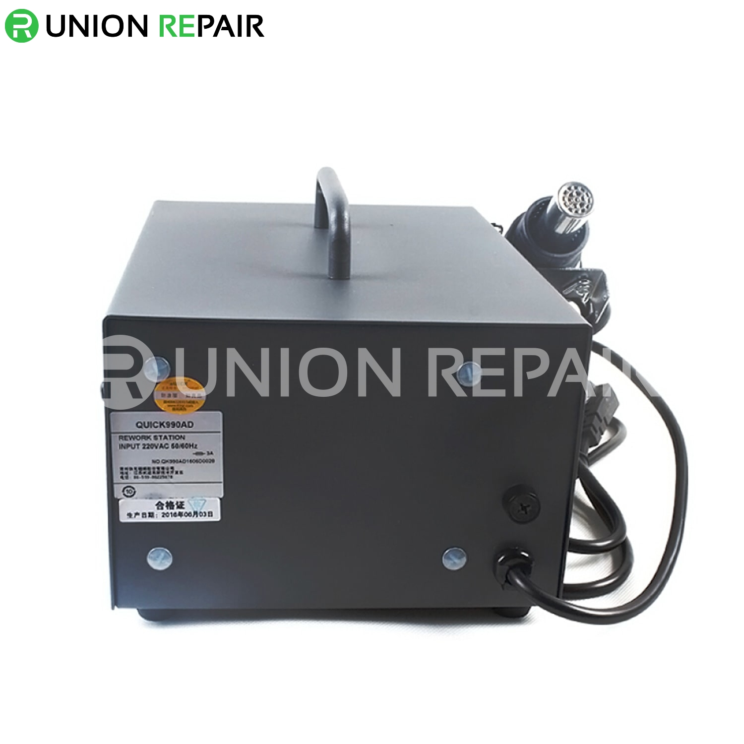 QUICK 990AD AC220V 540W Digital SMD Rework Soldering Station with Hot Air Gun Controllable Air Volume