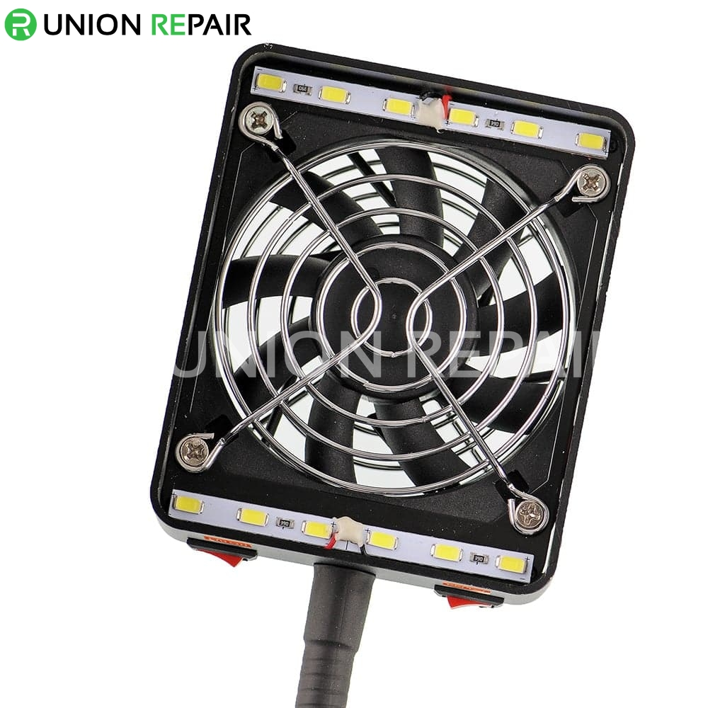 Desktop Phone Repair Soldering Exhaust Fan with Lighting Fan & Dual-Light