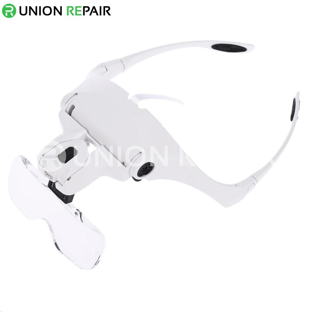 5 Lens lupa 1.0X-3.5X Magnifier Adjustable Bracket Headband Glasses #9892B2