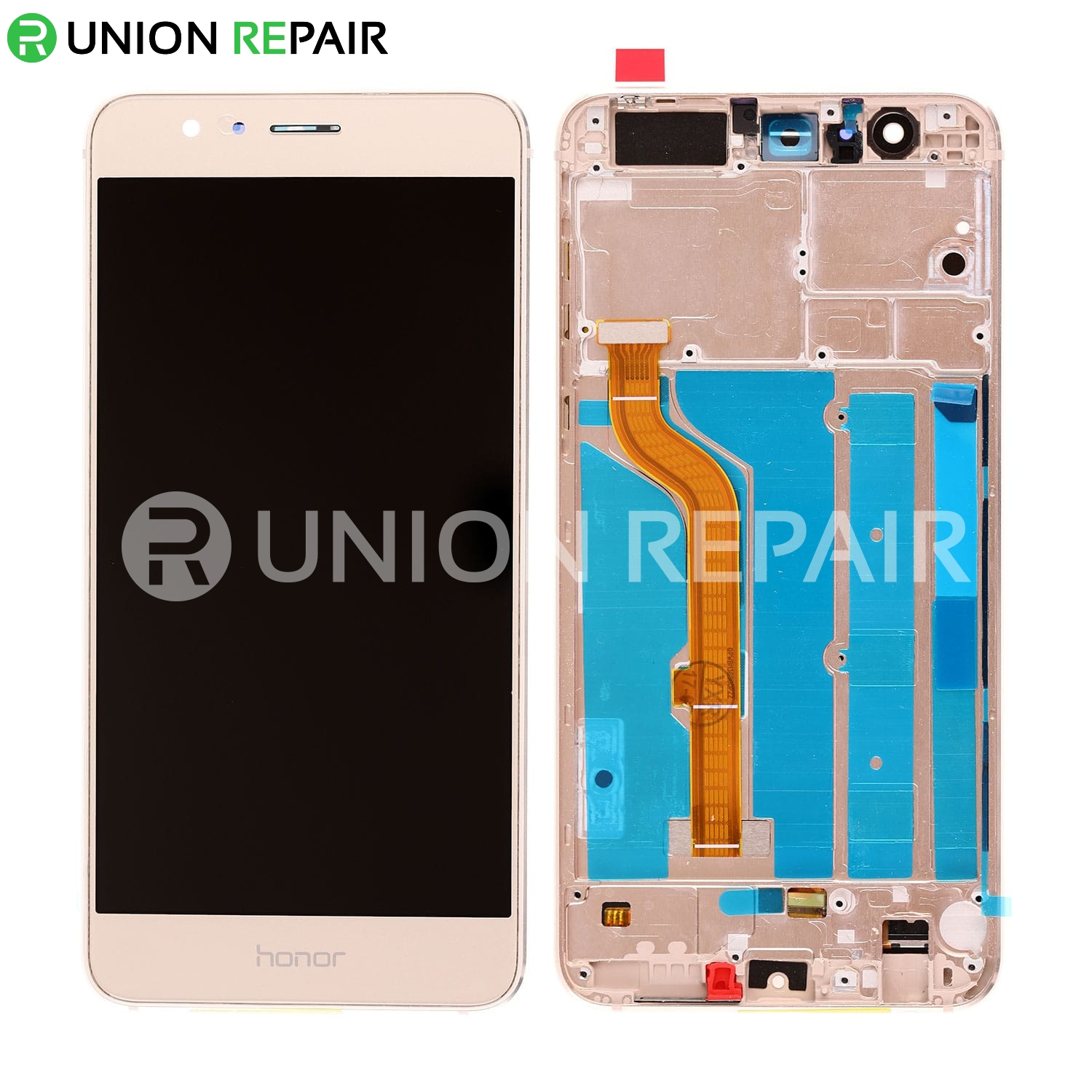 Replacement for Huawei Honor 8 LCD Screen Digitizer with Frame - Gold