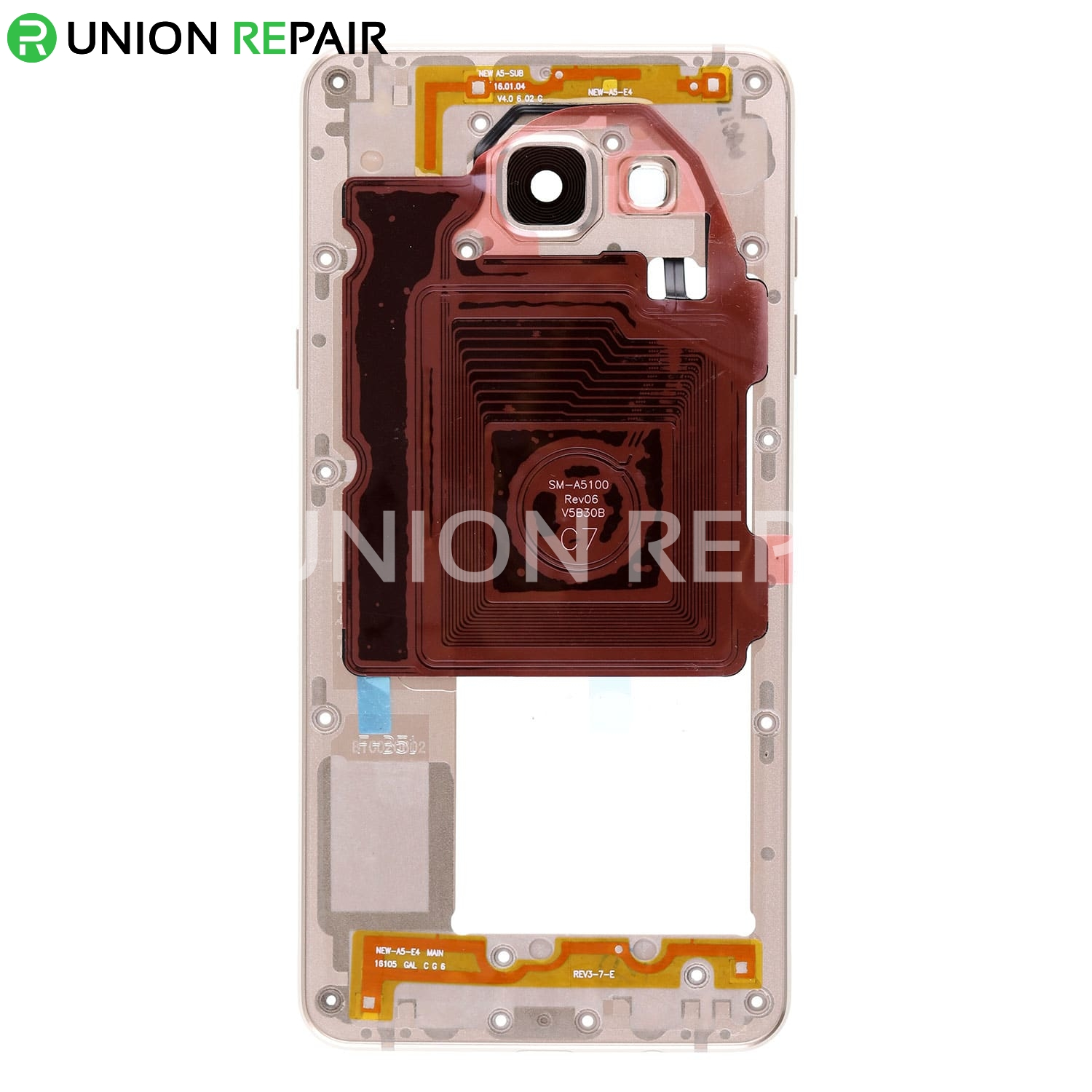 Replacement For Samsung Galaxy A5 2016 Sm 510 Rear Housing A7 Clear Cover Pink Gold Redlily