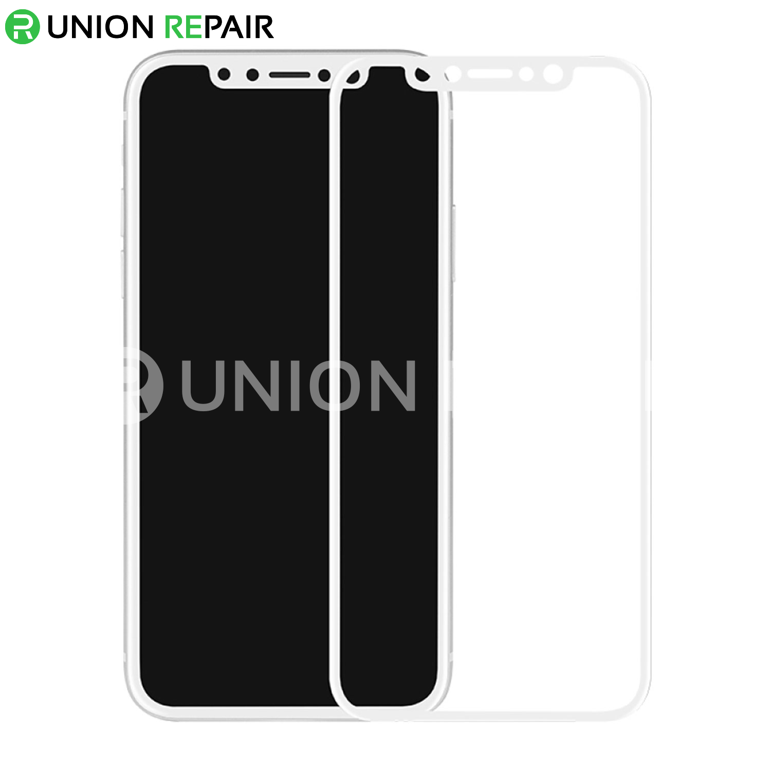 White Explosion-Proof Tempered Glass Film for iPhone X