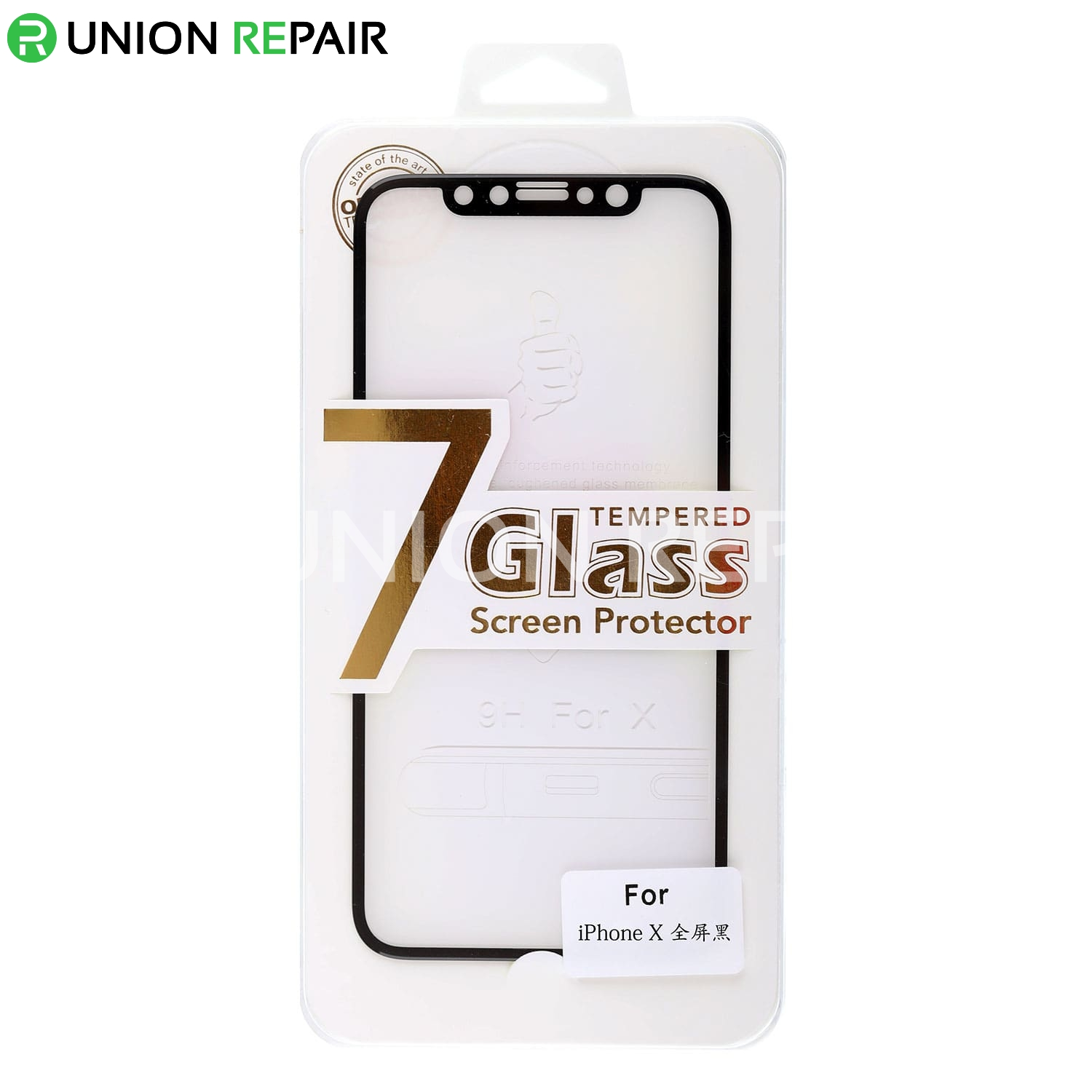 9H Black Full Cover Explosion-Proof Tempered Glass Film for iPhone X/XS/11Pro