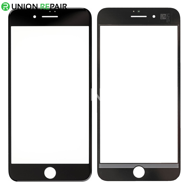 sale retailer 2ff73 4c2ea Replacement for iPhone 8 Plus Front Glass Lens - Black