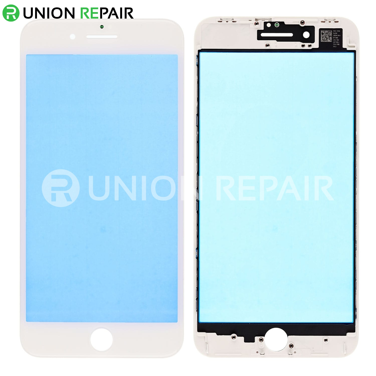 online retailer 41b84 3ec6a Replacement for iPhone 8 Plus Front Glass Lens with Supporting Frame - White