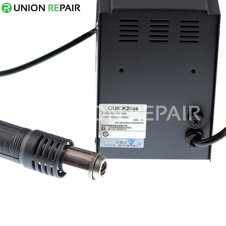 QUICK 2008 ESD Digital Display Heat Gun Welding Rework Soldering Station