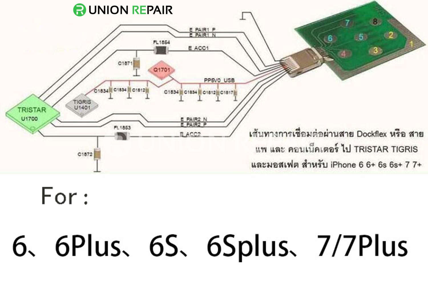 Usb Dock Pin Test Board For Iphone