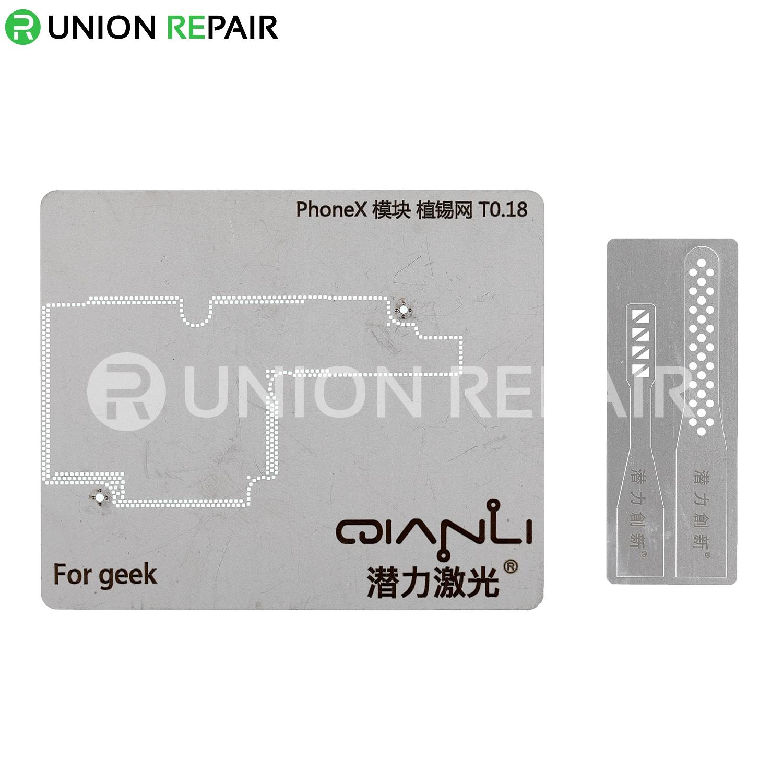 QianLi Japan Laser Tech CPU BGA Reballing Stencil for iPhone X