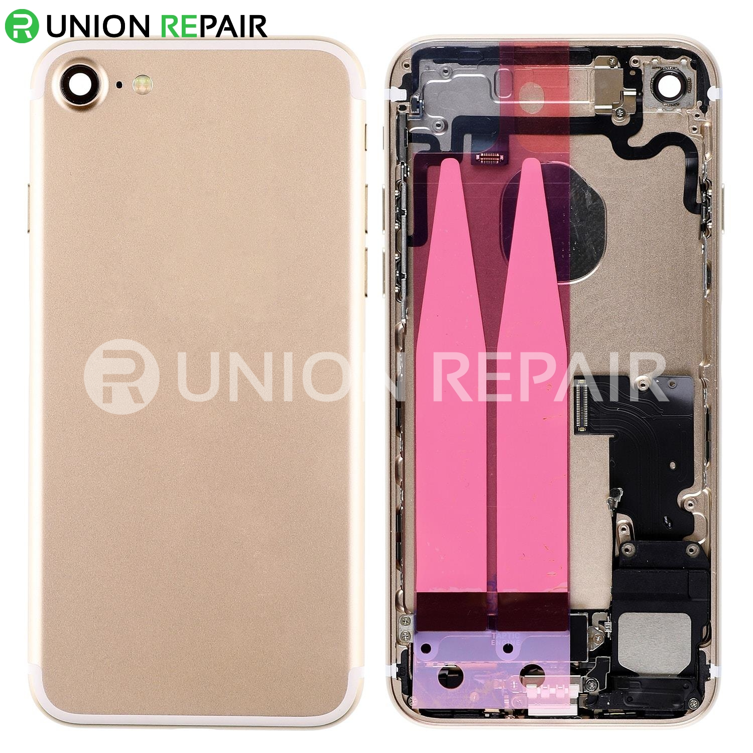 sale retailer dfc8f b7764 Replacement for iPhone 7 Back Cover Full Assembly - Gold