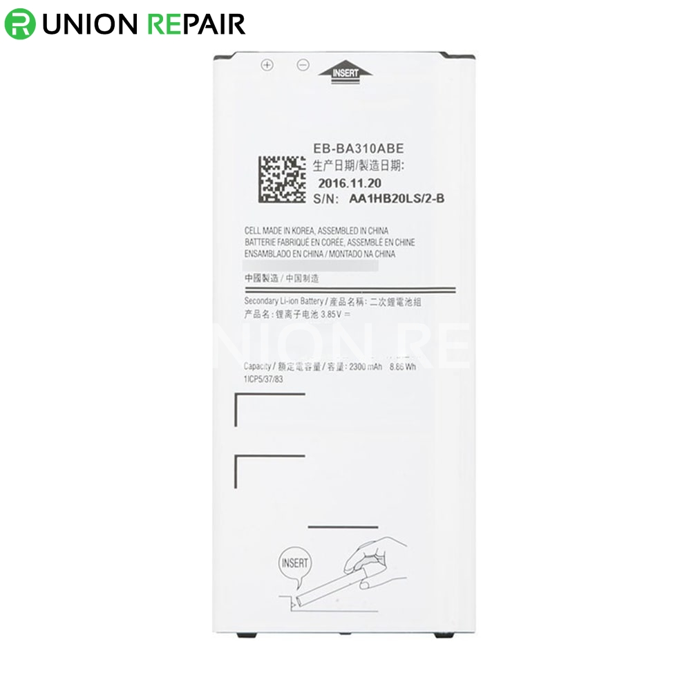 replacement for samsung galaxy a3 2016 sm 310 battery. Black Bedroom Furniture Sets. Home Design Ideas