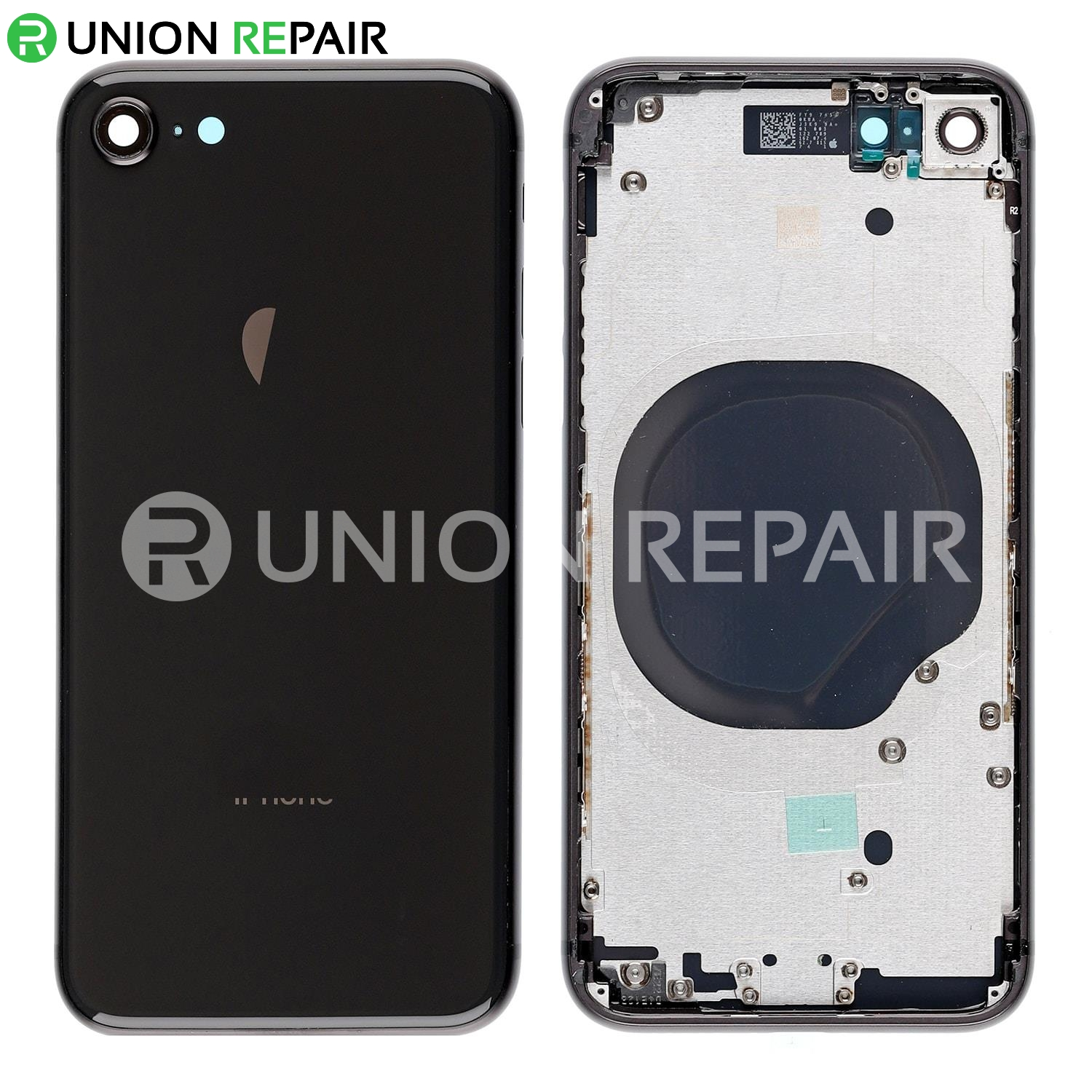 best cheap 905a2 f98bd Replacement for iPhone 8 Back Cover with Frame Assembly - Space Gray