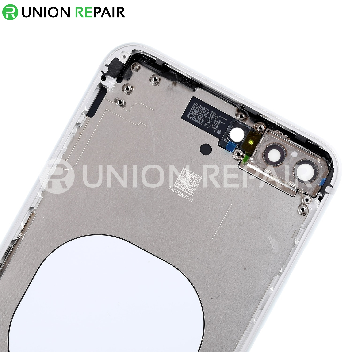 Replacement for iPhone 8 Plus Back Cover with Frame Assembly - Silver