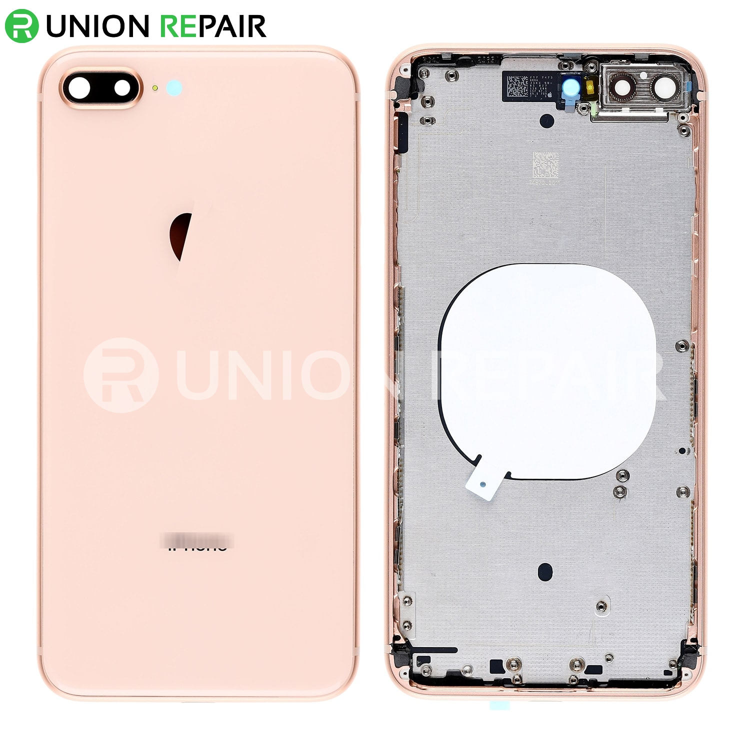 huge selection of 1622c 0bca5 Replacement for iPhone 8 Plus Back Cover with Frame Assembly - Gold