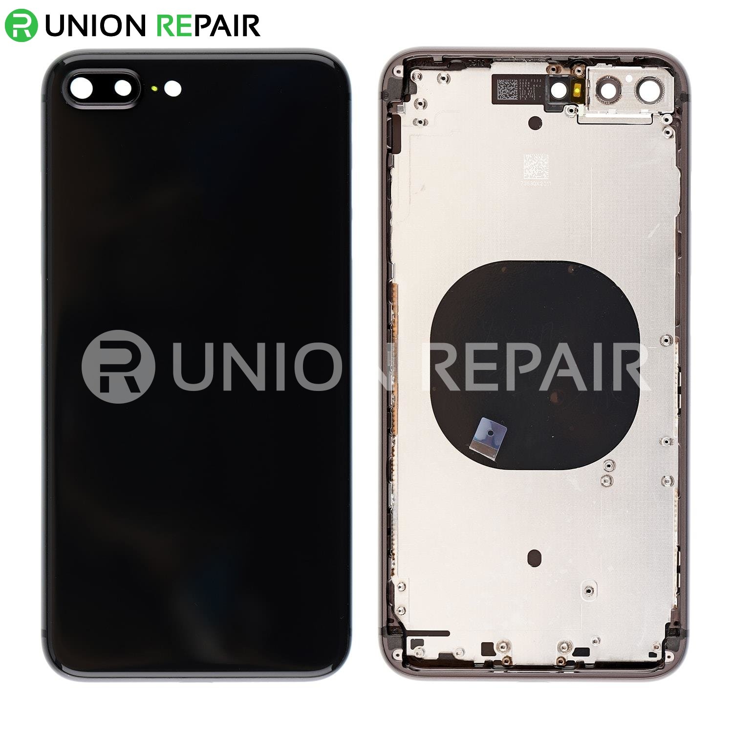 new arrival 9caed b0941 Replacement for iPhone 8 Plus Back Cover with Frame Assembly - Space Gray