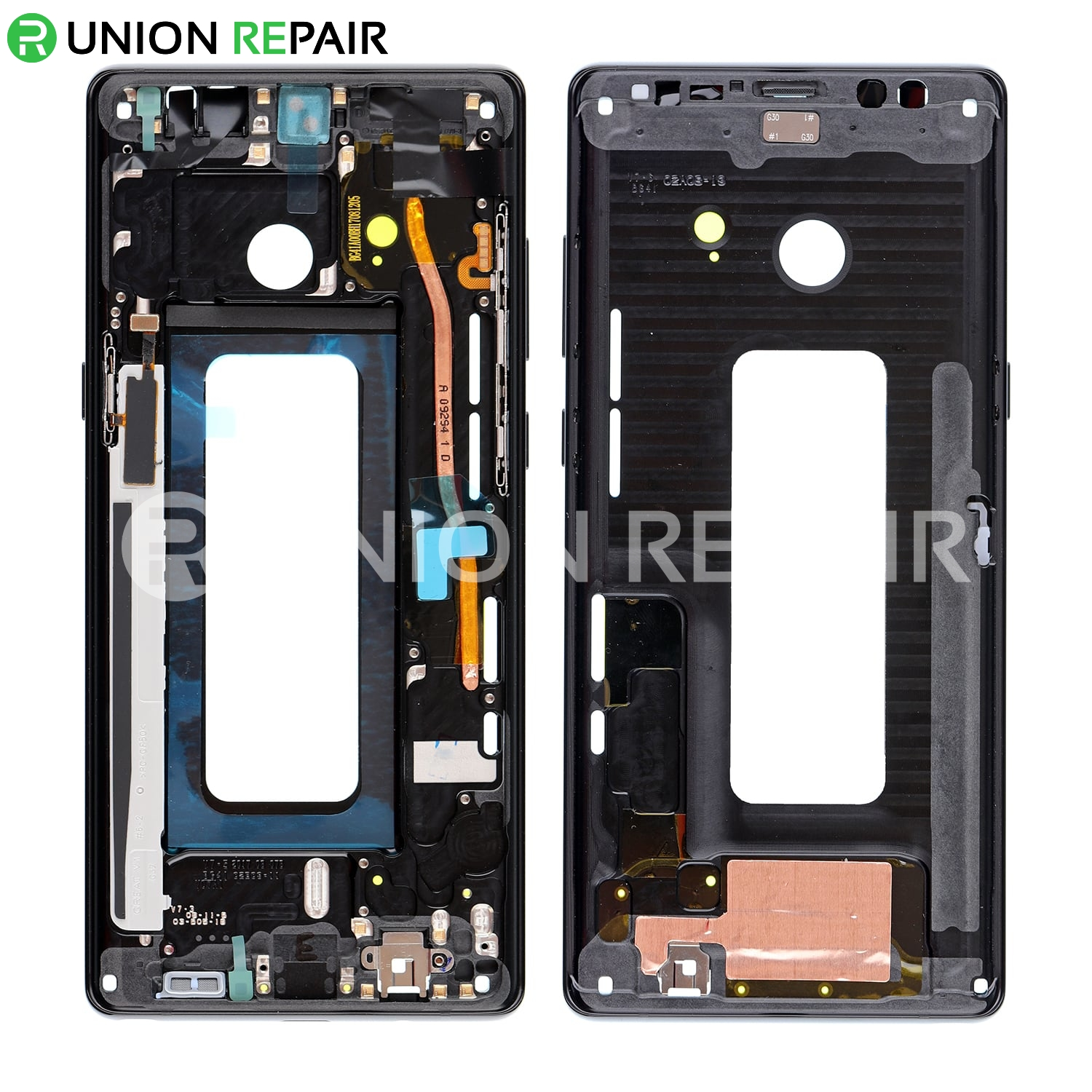 Replacement Housing Galaxy Black Frame Sm-n950 Rear For - 8 Note Samsung