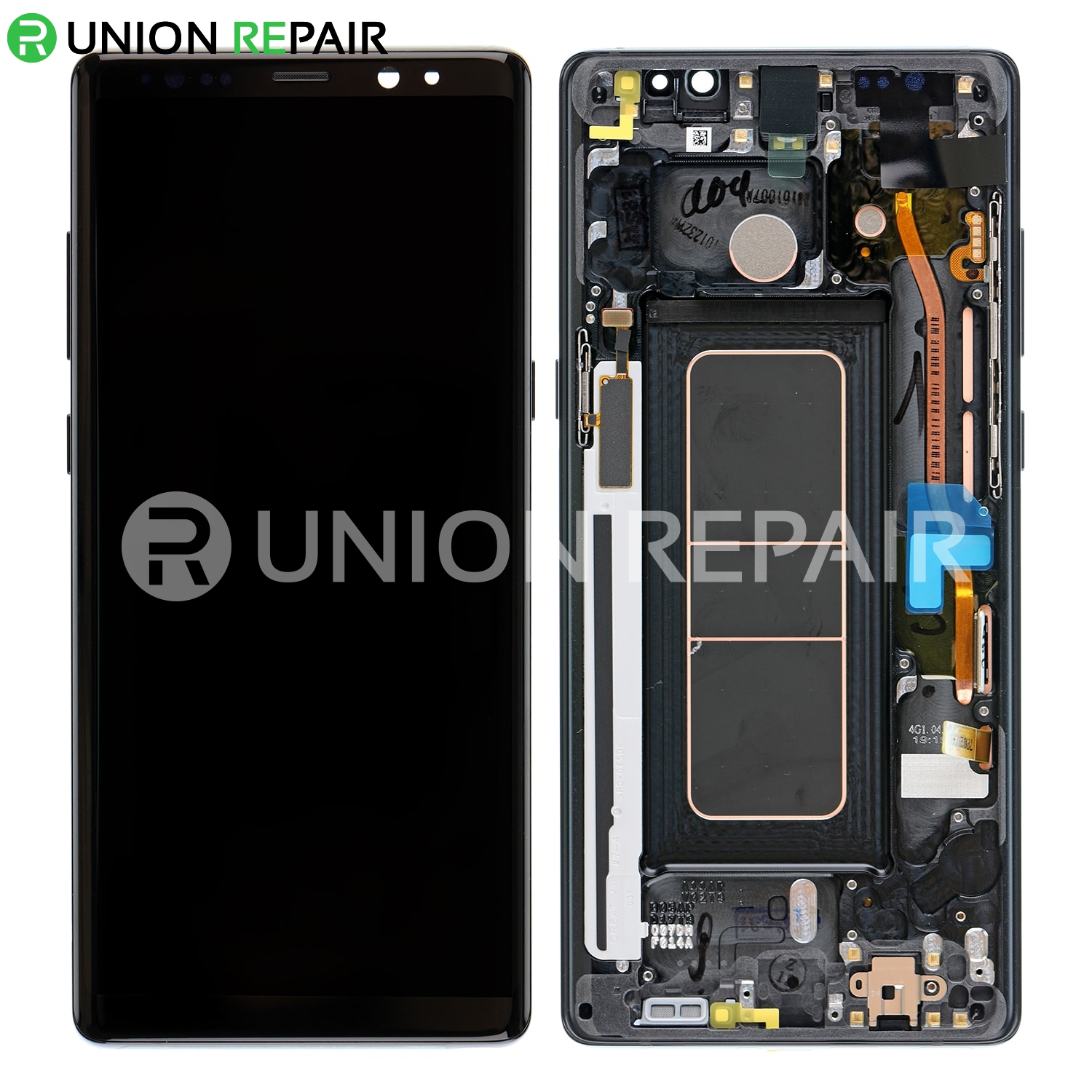 Frame Note Assembly With 8 Sm-n950 - For Replacement Lcd Screen Samsung Black Galaxy