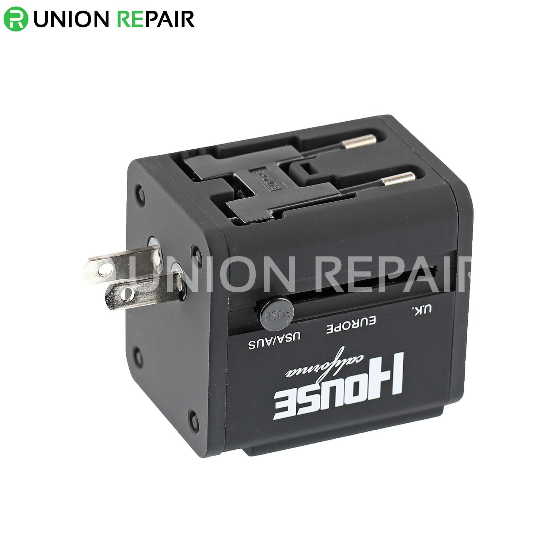 HC-158 Universal Conversion Plug Socket with Dual USB Ports