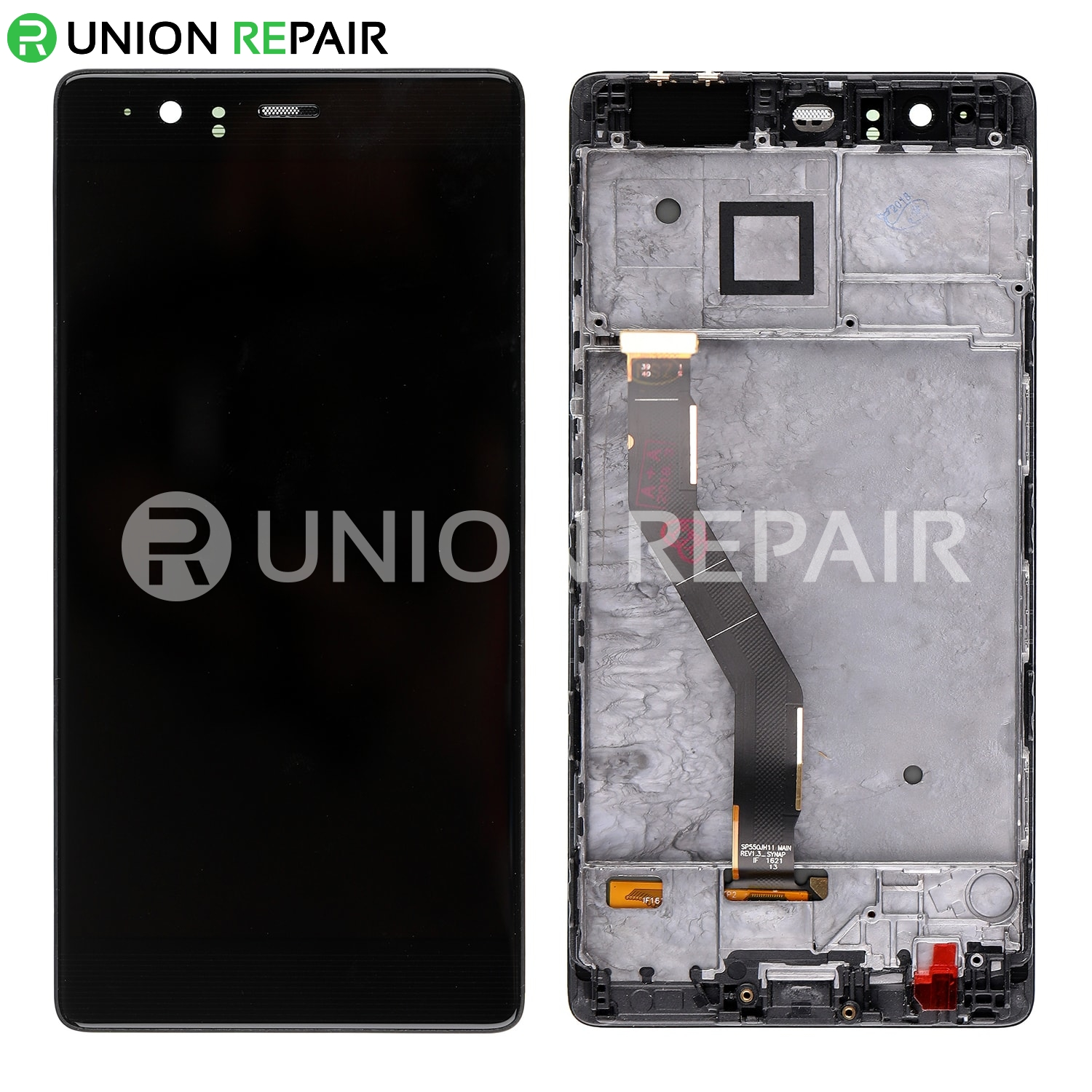 Replacement for Huawei P9 Plus LCD Digitizer Assembly with Frame - Black