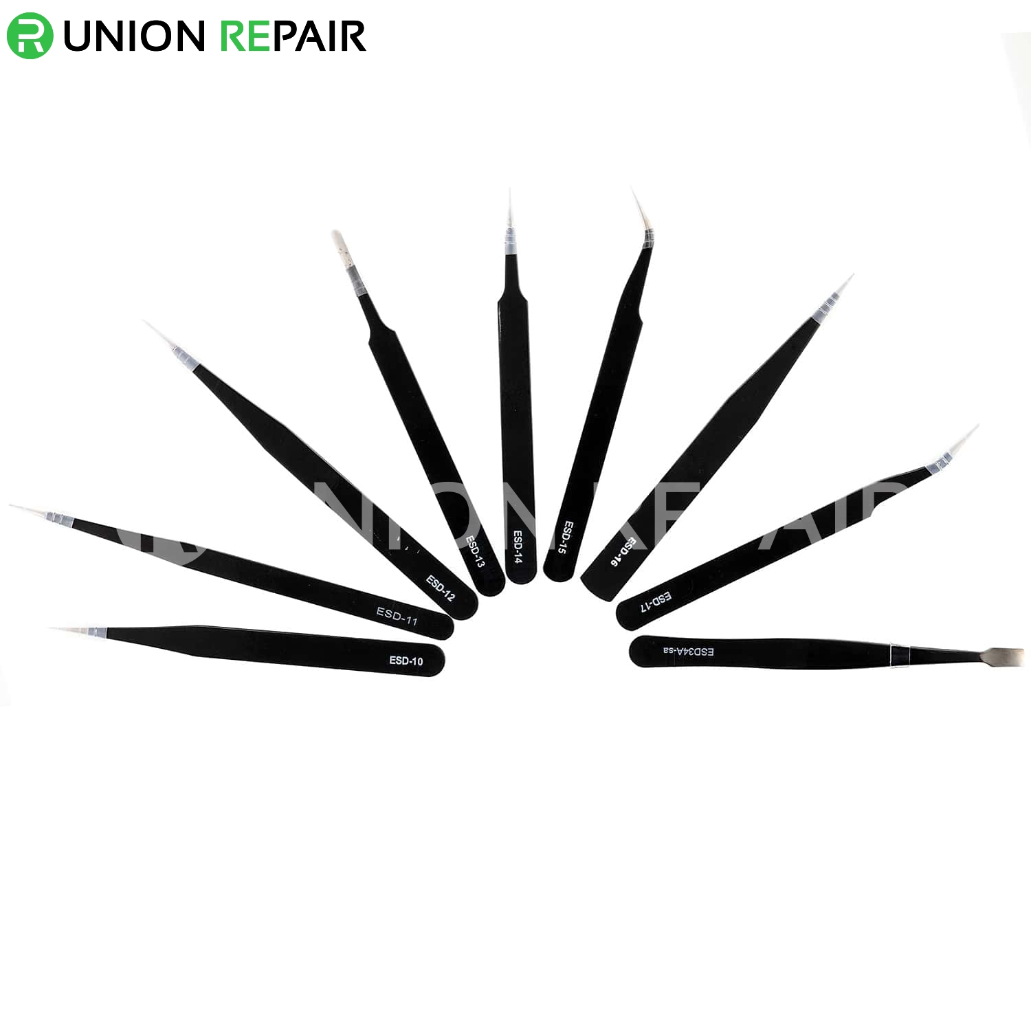 9 in 1 Anti-Static Stainless Steel Tweezers Kit