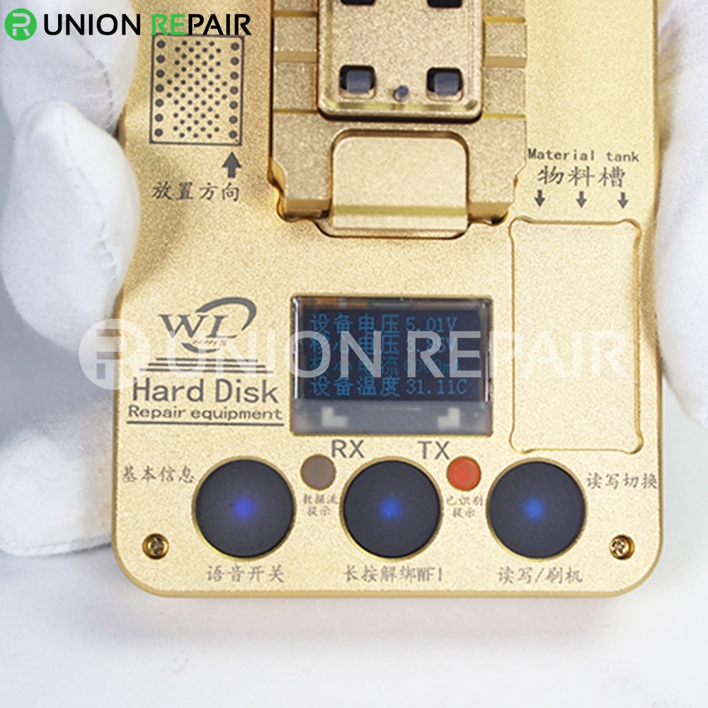 WL PCIE NAND Flash IC Programmer/NAND Test Fixture for iPhone 8G-8P-X