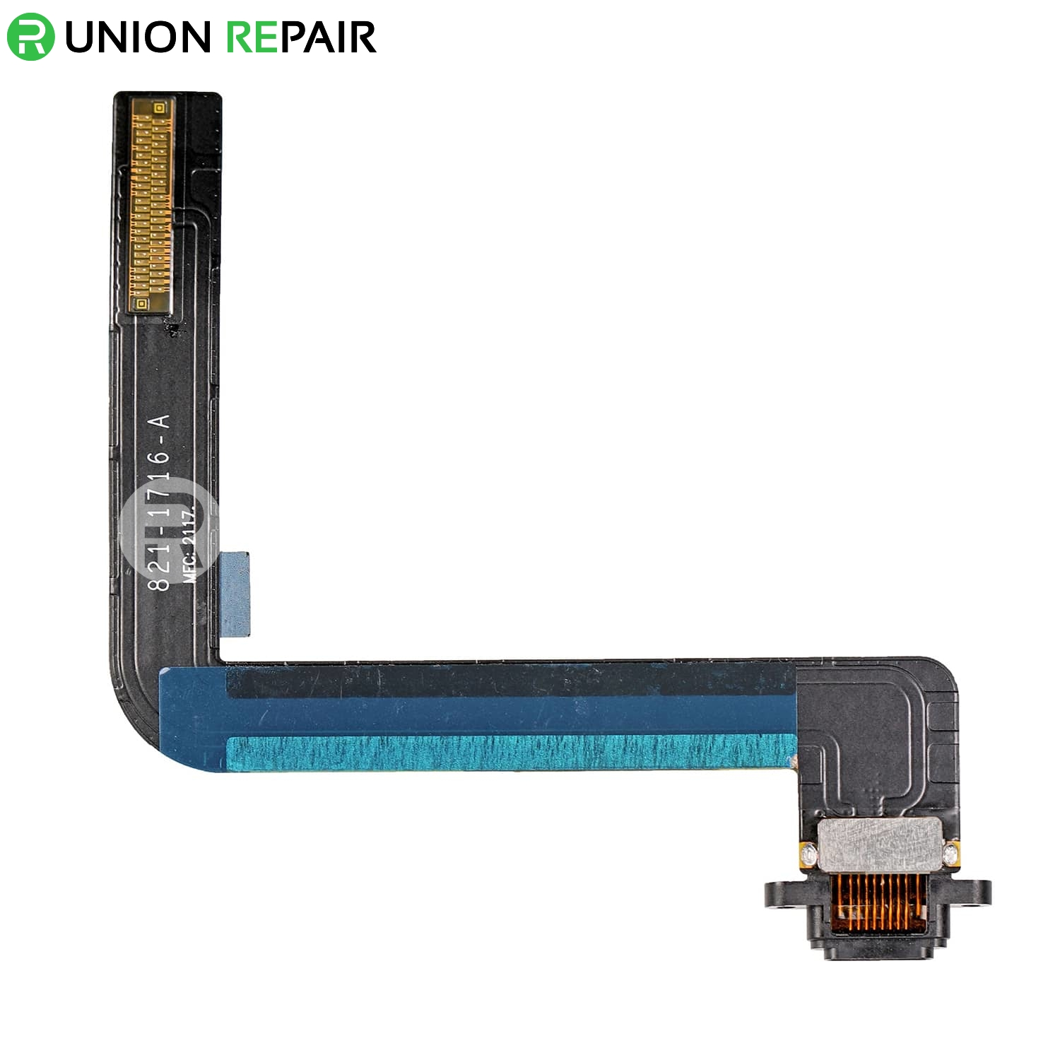 Replacement for iPad 6 Dock Connector Flex Cable - Black