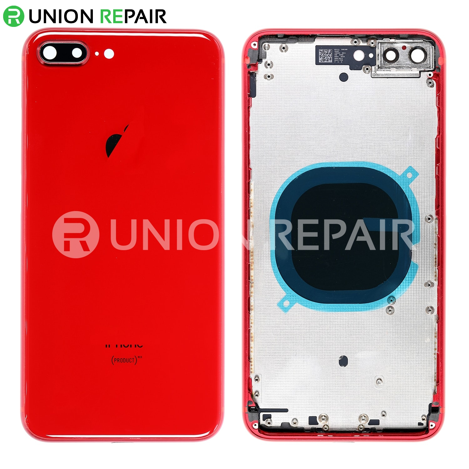 Replacement for iPhone 8 Plus Back Cover with Frame Assembly , Red