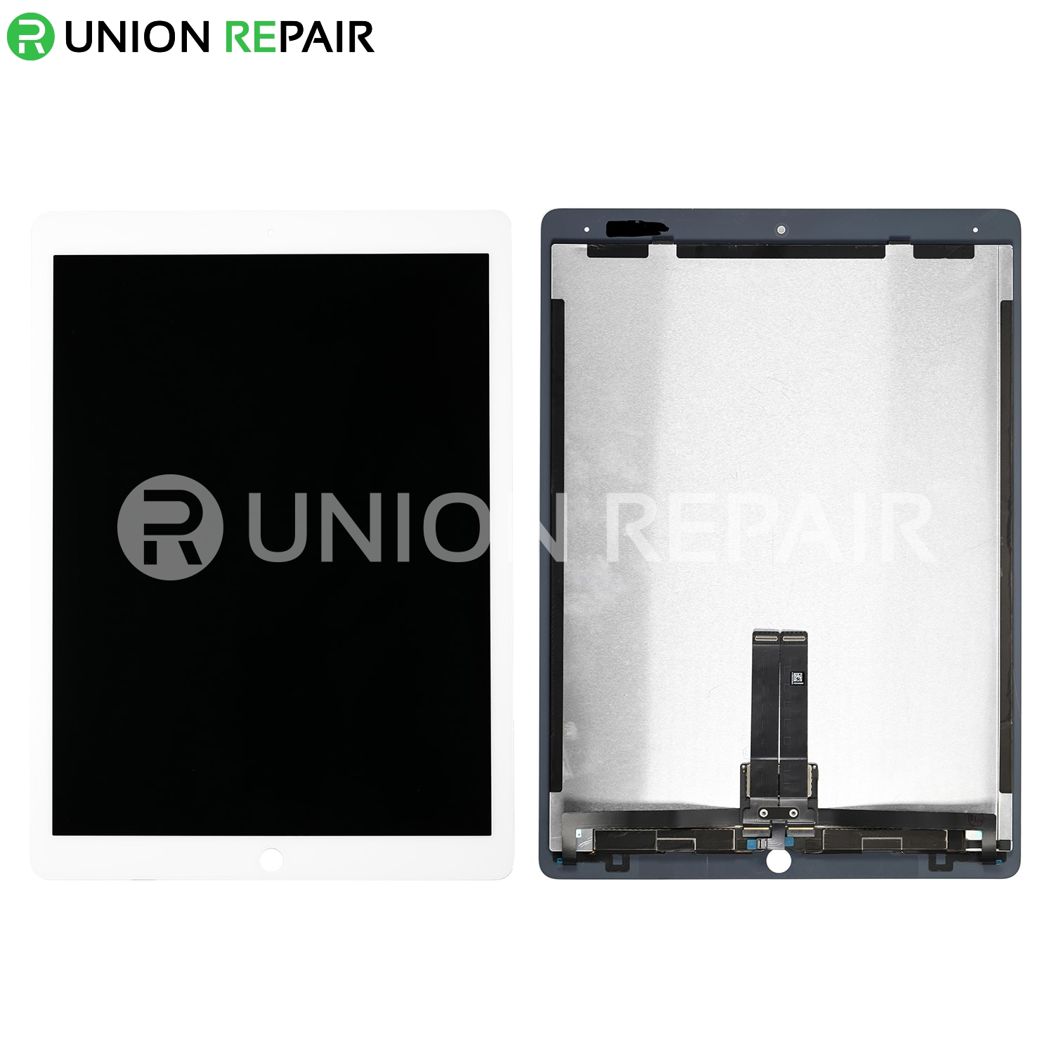 """Replacement for iPad Pro 12.9"""" 2nd Gen LCD Screen and Digitizer Assembly with Board Flex Soldered Complete - White"""