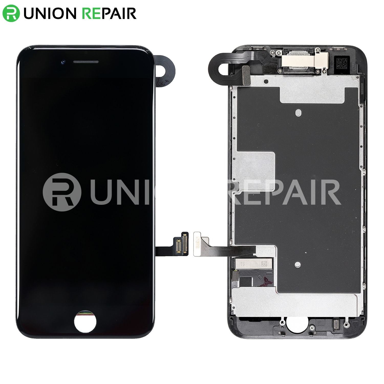 online store 0eeee 4c5e5 Replacement for iPhone 8 LCD Screen Full Assembly without Home Button -  Black