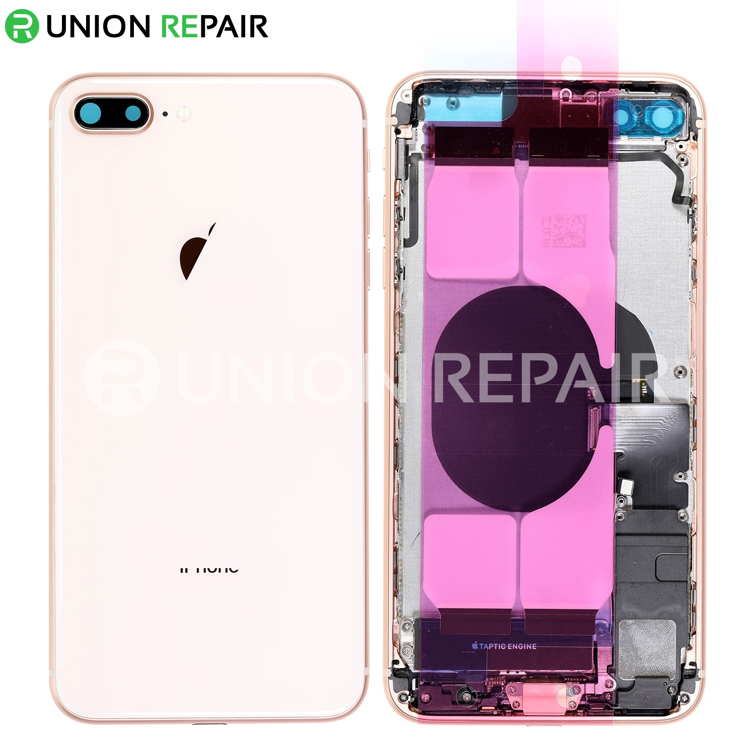 Rear for Apple iPhone 8 Plus Rose Gold with Glue Card Aftermarket Housing CDMA /& GSM