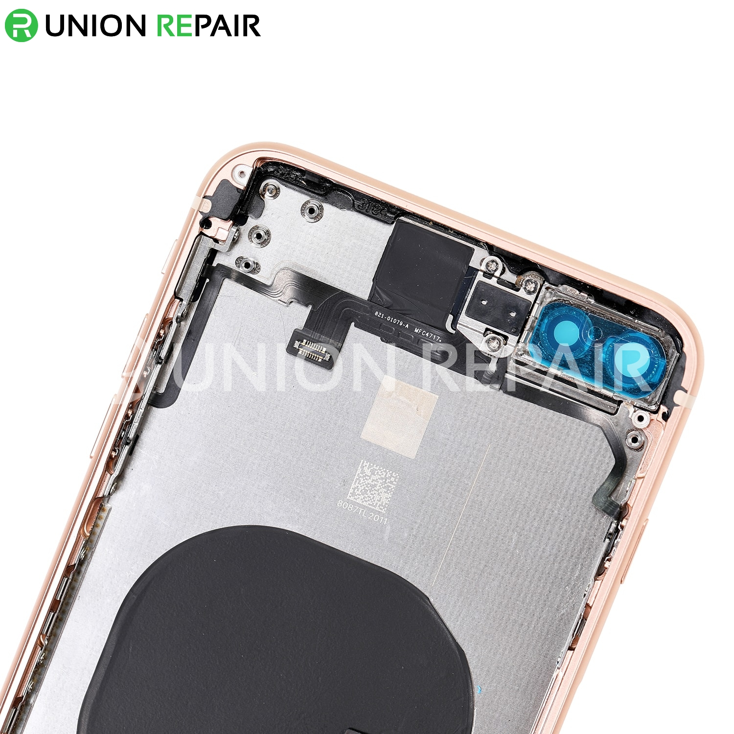 Replacement for iPhone 8 Plus Back Cover Full Assembly - Gold