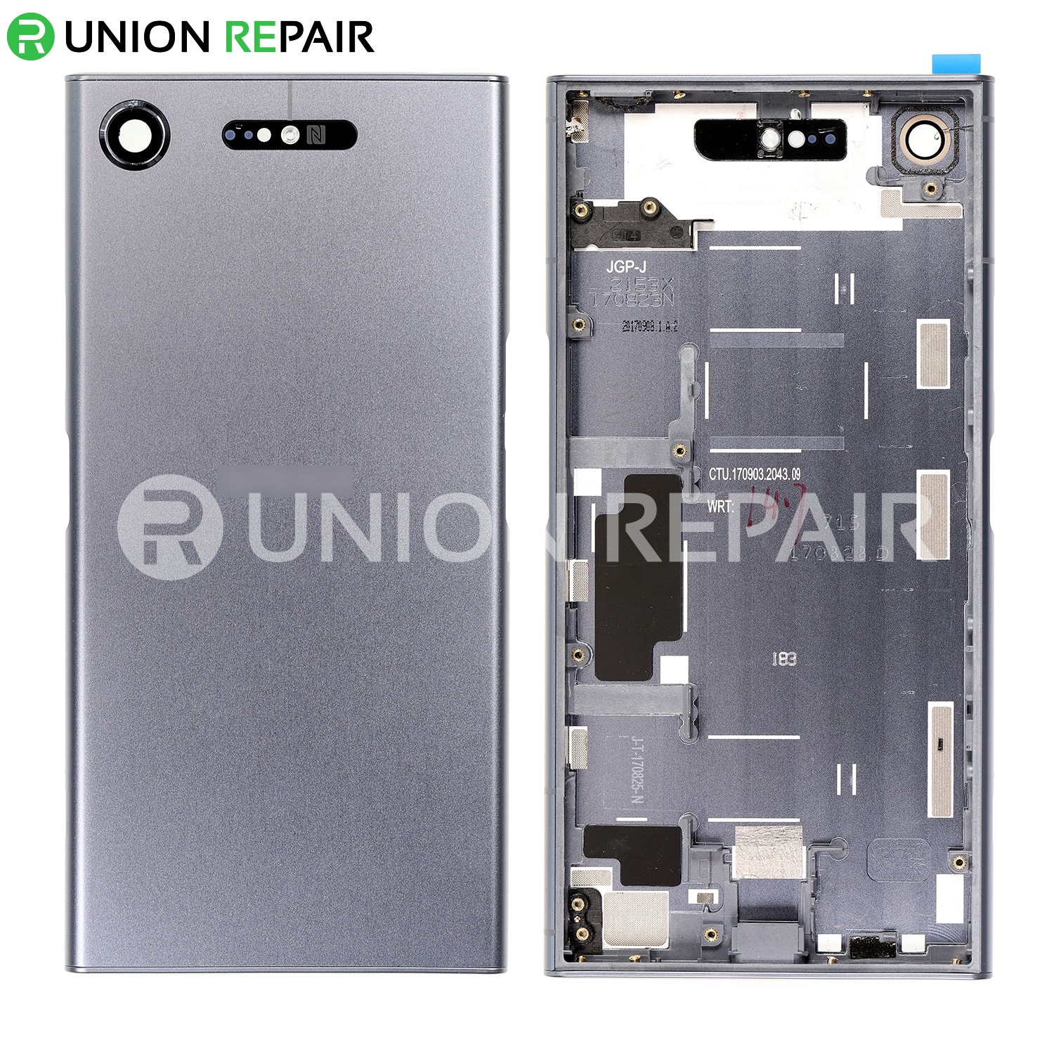 buy popular 769bd 8e666 Replacement for Sony Xperia XZ1 Back Cover with Middle Frame - Moonlight  Blue