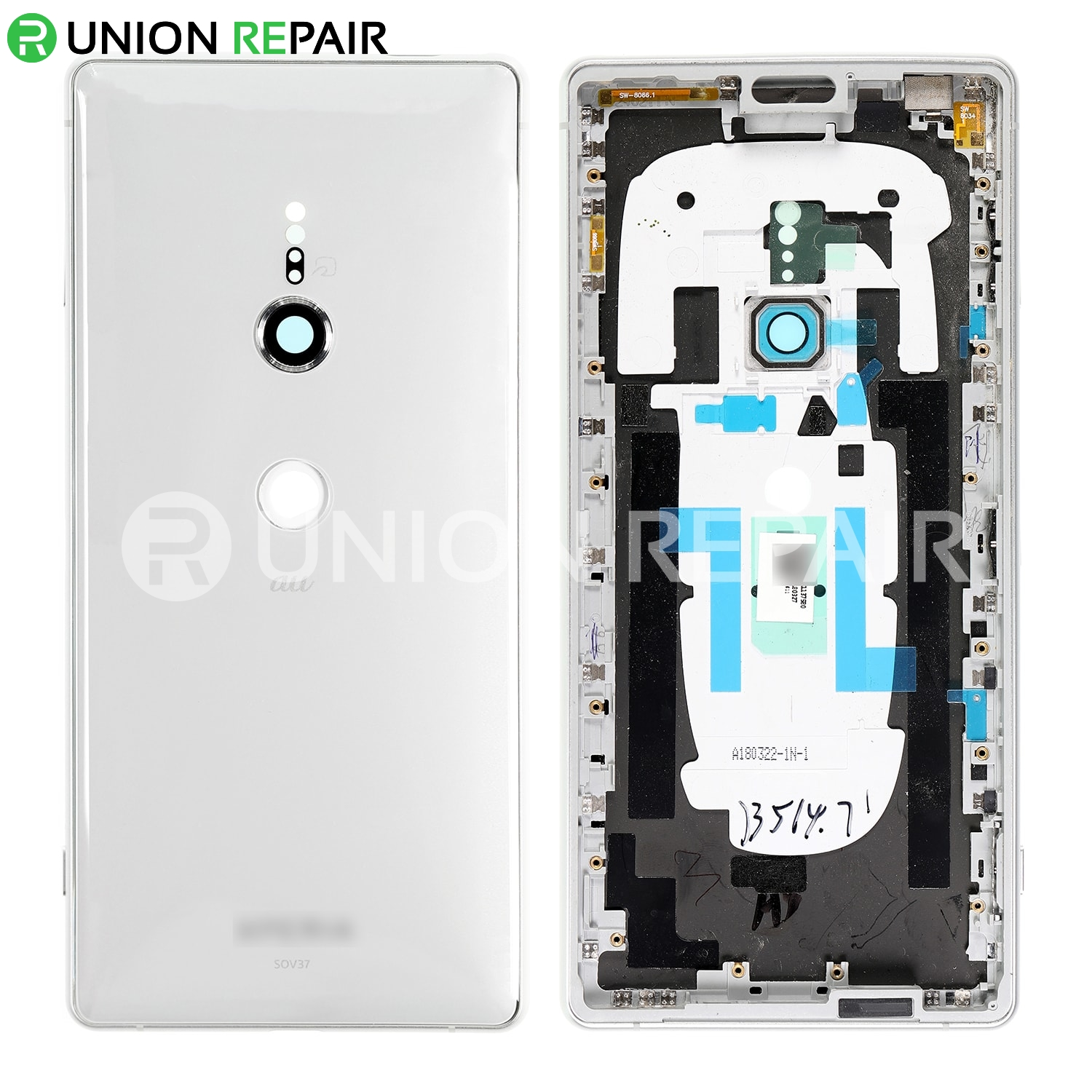 purchase cheap 0a31d 33c6a Replacement for Sony Xperia XZ2 Back Cover with Middle Frame - Liquid Silver