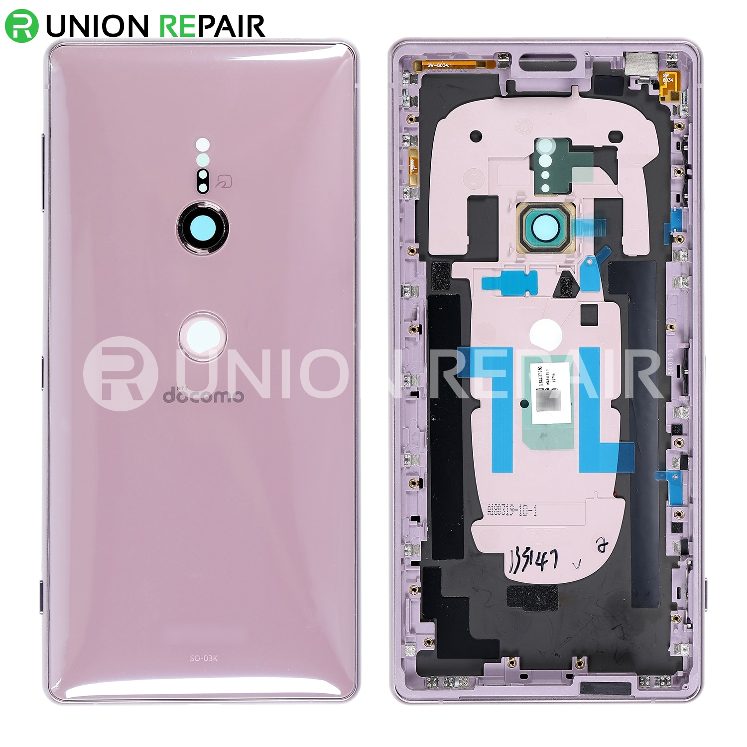 purchase cheap 958d9 2ba22 Replacement for Sony Xperia XZ2 Back Cover with Middle Frame - Ash Pink