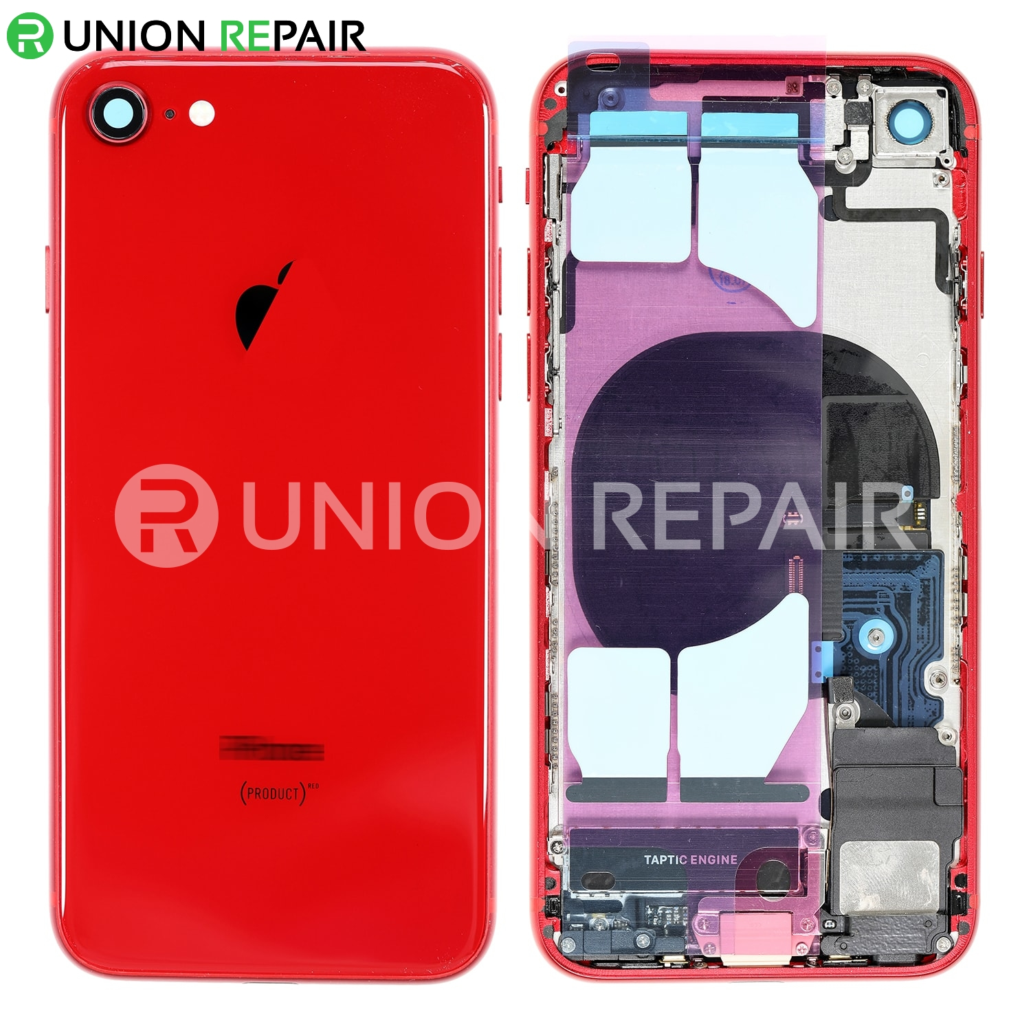Replacement for iPhone 8 Back Cover Full Assembly , Red