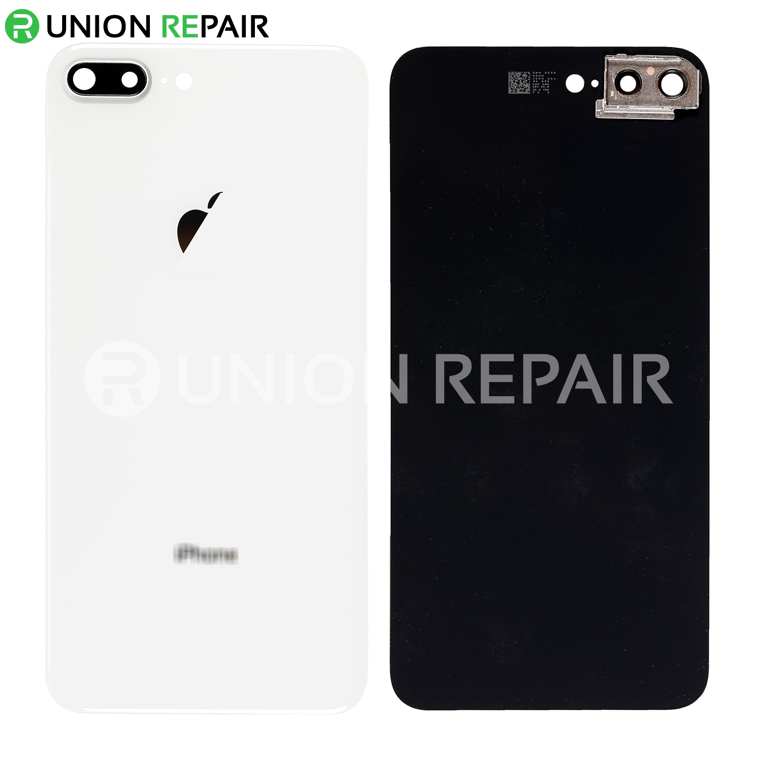 buy popular 3ee07 03670 Replacement for iPhone 8 Plus Back Cover with Camera Holder - Silver