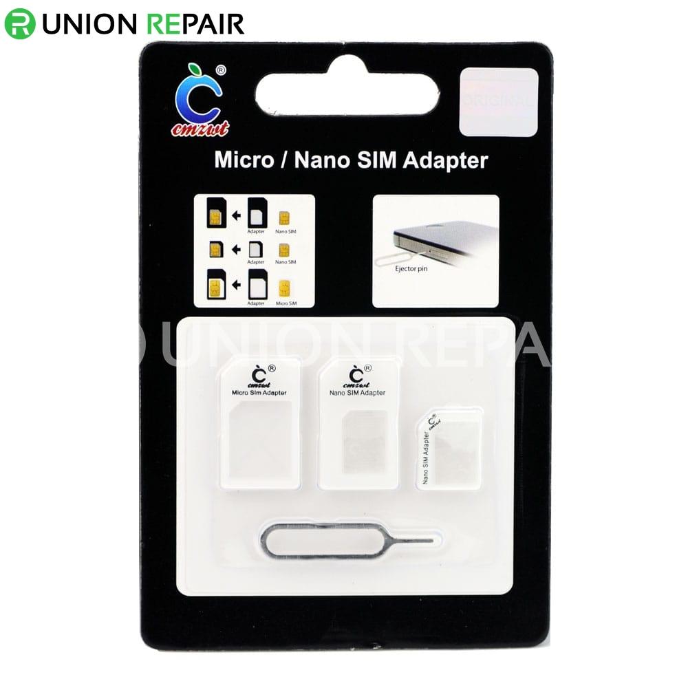 Micro / Nano SIM Adapter White for iPhone 5