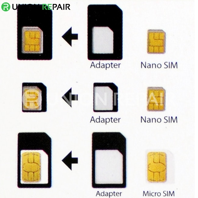 Micro / Nano SIM Adapter White for iPhone 5