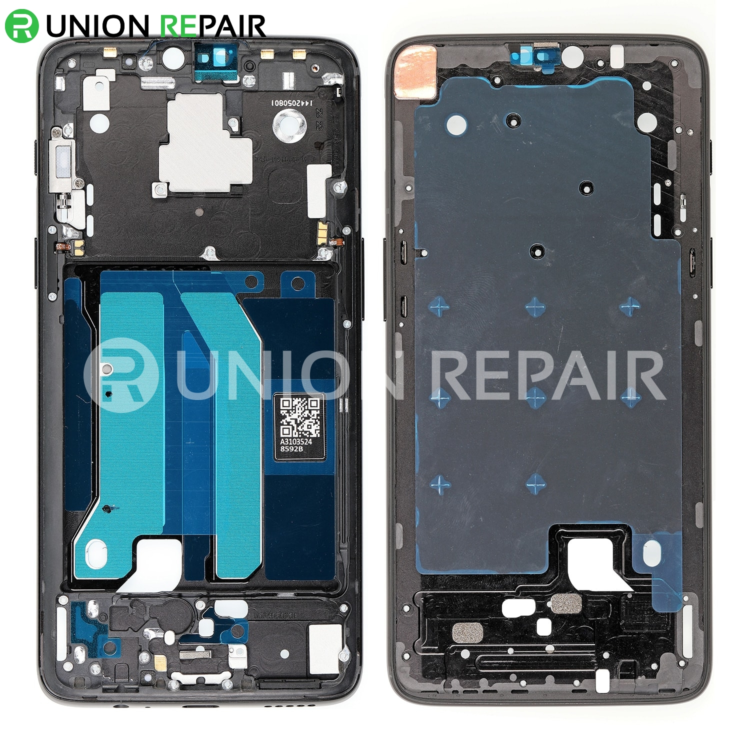 Replacement For OnePlus 6 Front Housing - Midnight Black