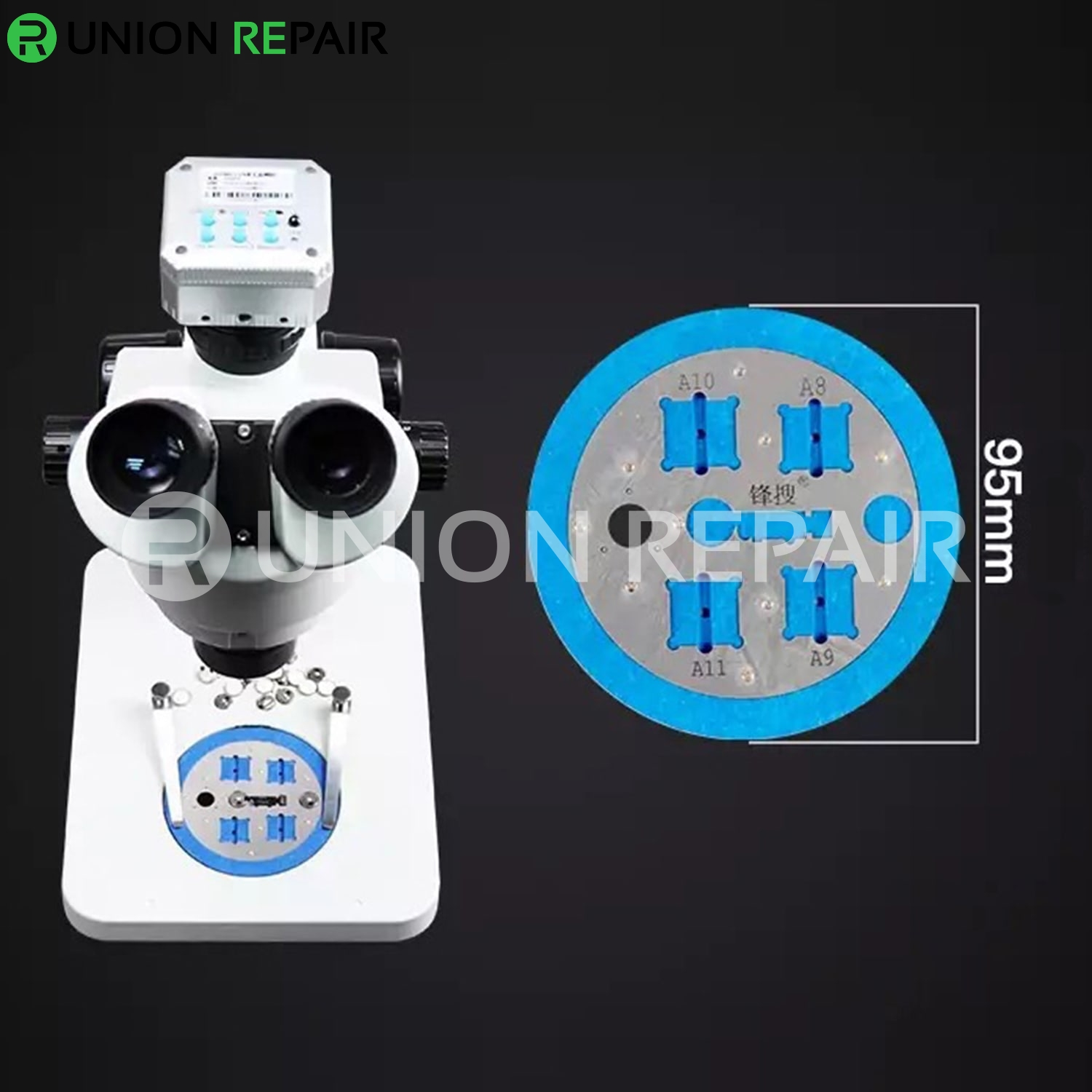Microscopes Remove Rubber Base with Fingerprint Restoration for iPhone A8 A9 A10 A11