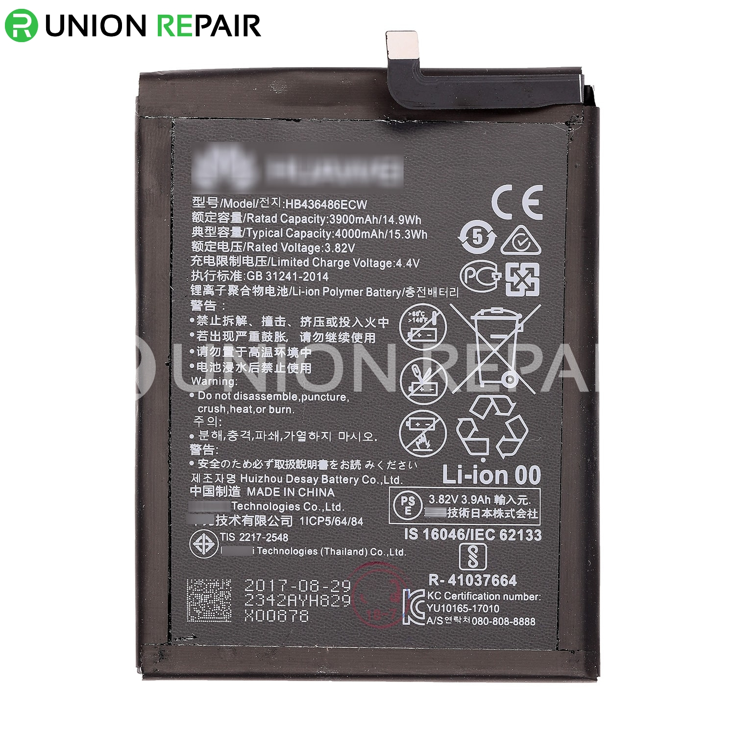 Replacement for Huawei Mate 10 Battery 4000mAh