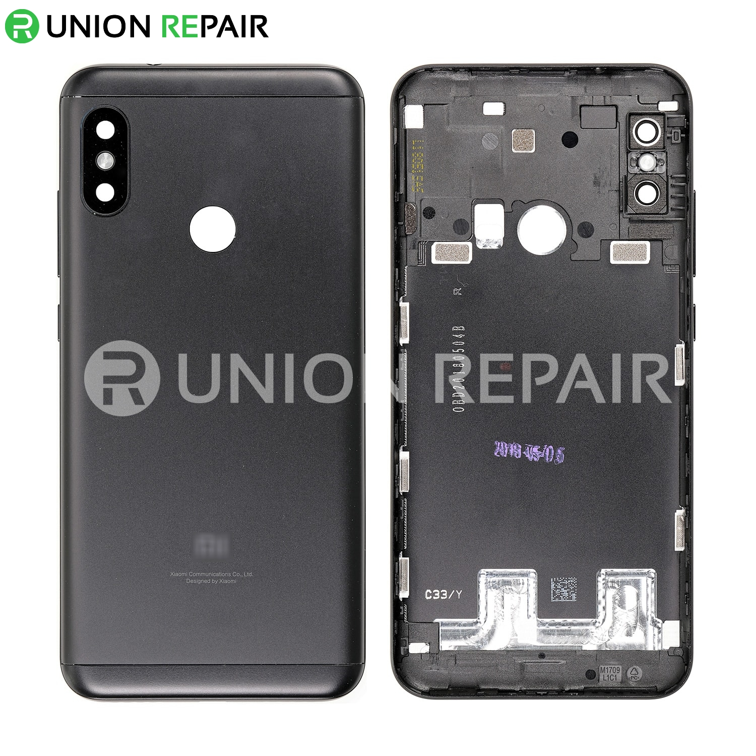 the latest eaf00 30965 Replacement for RedMi 6 Pro Back Cover - Black