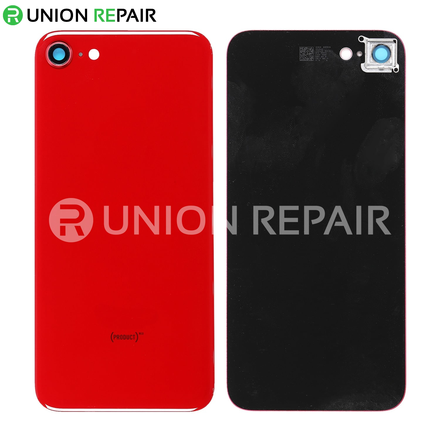 the best attitude fe7af 43e8b Replacement for iPhone 8 Back Cover with Camera Holder - Red