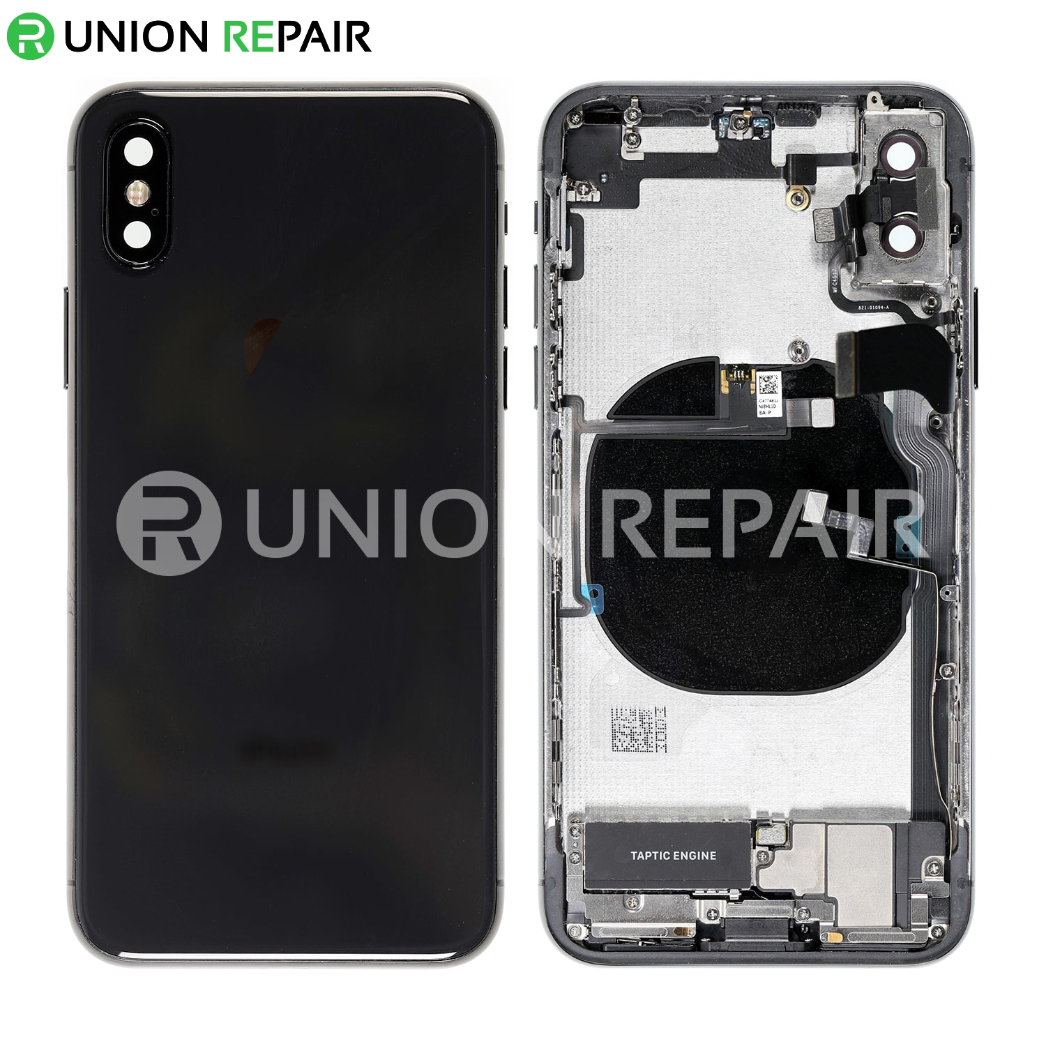 promo code 48a88 a3a69 Replacement for iPhone X Back Cover Full Assembly - Space Gray