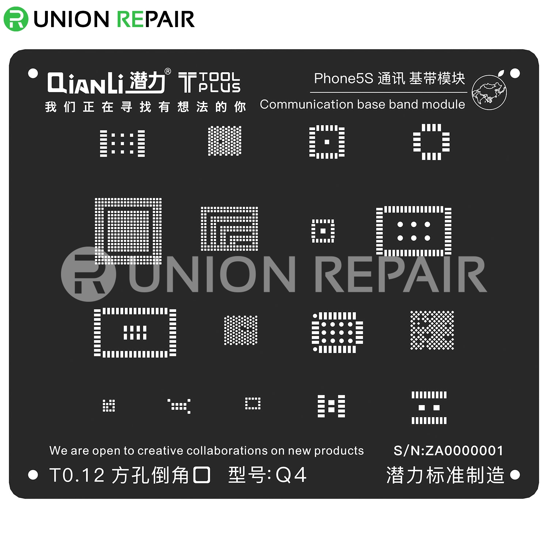 ToolPlus Communication Base Band BGA Reballing Stencil, Type: For 5S Q4