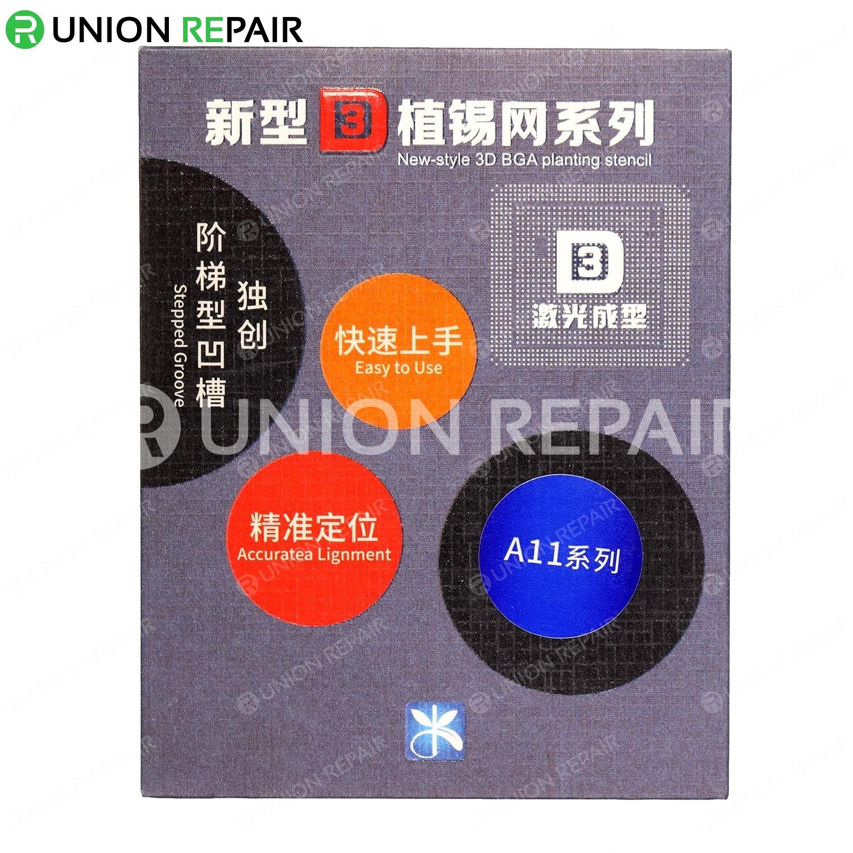 MJ 3D BGA Reball Stencil for A8 A9 A10 A11, Type: For A11